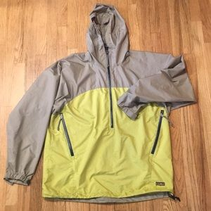 Patagonia Windbreaker - L - Men's - tan and lime